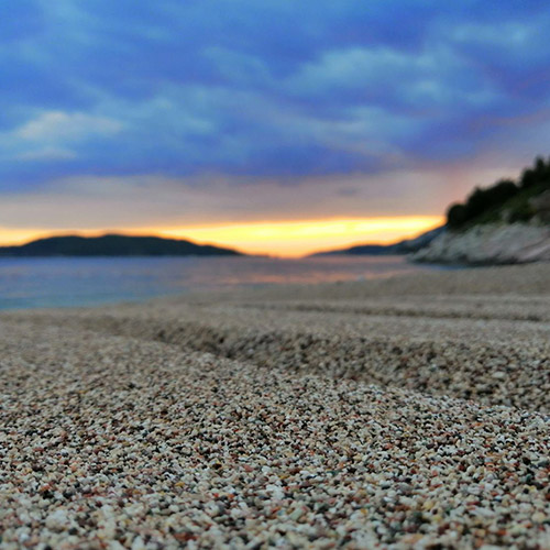 Kamenovo Beach sand