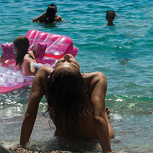 Kamenovo Beach beautiful woman