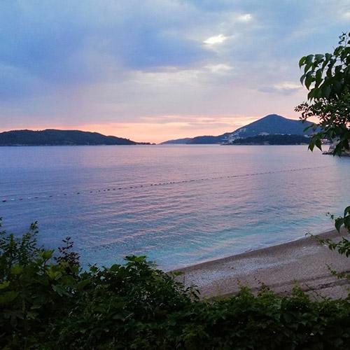 Kamenovo Beach sunset