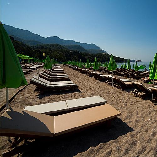 Kamenovo Beach lezaljke