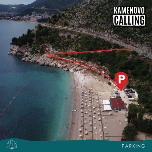 Kamenovo Beach parking